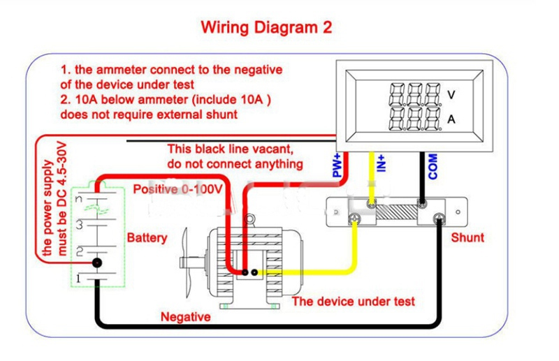 U2022 U0300  U2022 U0301 Dc 0 1000a Voltage Meter Current Gauge Digital