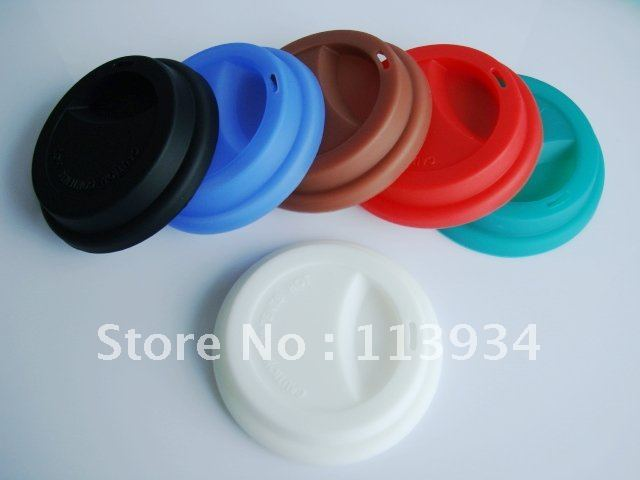 Eco friendly silicone coffee cup lid tea coffee mug cover for warming and decoration with free