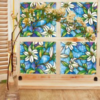 Opaque Privacy Decorative Stained Glass Window Film Home ...