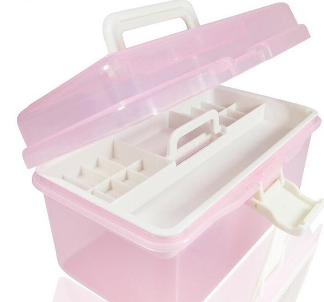 Two Layers Of Nail Art Tool Box The Translucent Toolbox Cosmetic