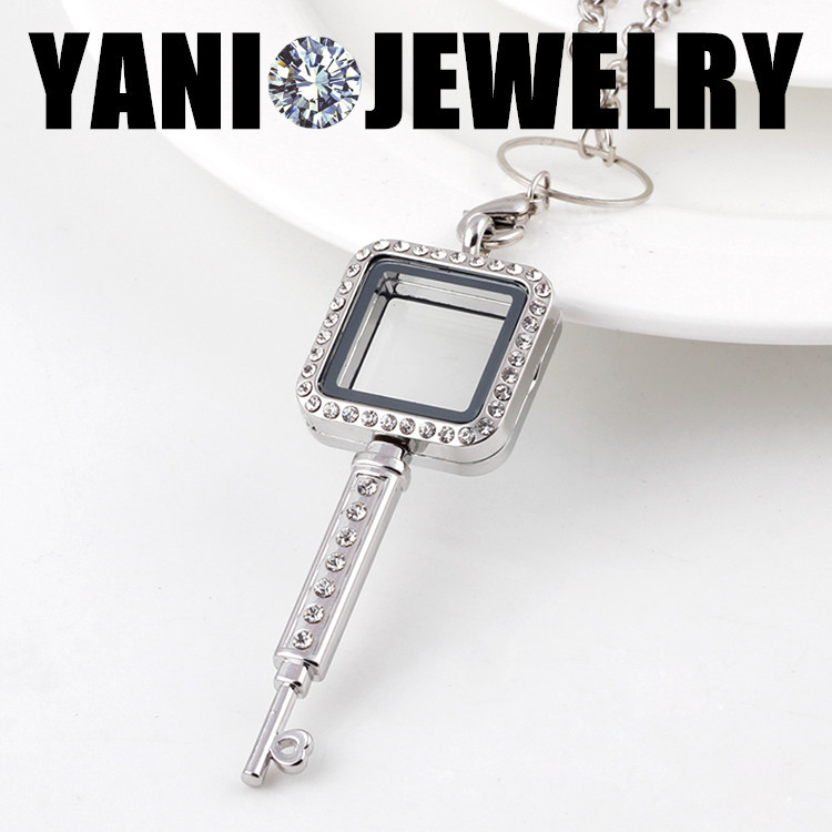 3d12a6c6741 ᐂHot Sale 30mm Silver Square Memory Magnetic Glass Living Floating ...