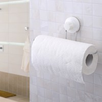Strong suction cup toilet paper holder bathroom