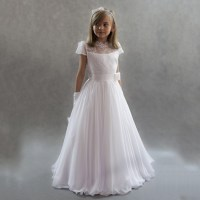 White Pageant Dresses for Little Girls Kids Prom Dresses ...