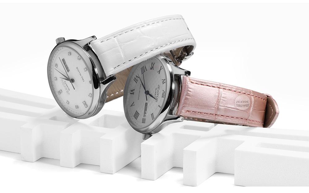 d2df313c5c6 ᗔJEAYOU Venda Quente Pulseira De Relógio de Couro Para As Mulheres ...