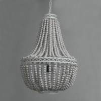 Free-Shipping-vintage-rustic-white-wooden-bead-chandelier ...