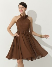Popular Short Brown Bridesmaid Dresses