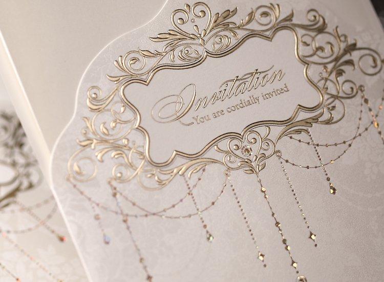 Lace Wedding Invitations Elegant Embossed White Ribbon Erfly Envelope Paper Printing Custom Invitation Cards