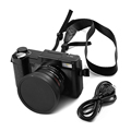 Gift Earphone 24MP HD Half DSLR Professional Digital Cameras with 4x Telephoto Fisheye Wide Angle Lens