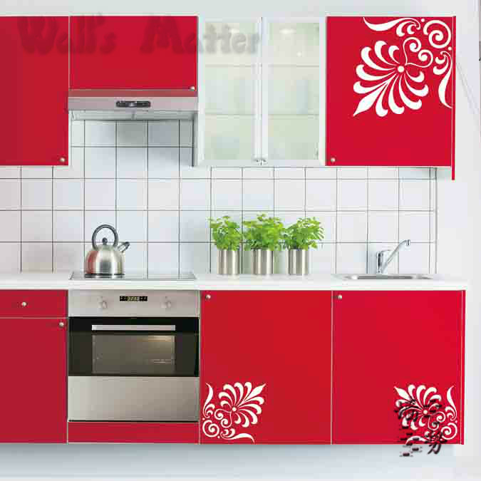 Wall Stickers For Kitchen Cabinets Novocom Top