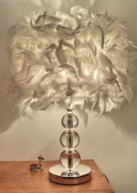 Feather table lamp romantic modern brief bedside lamp ...