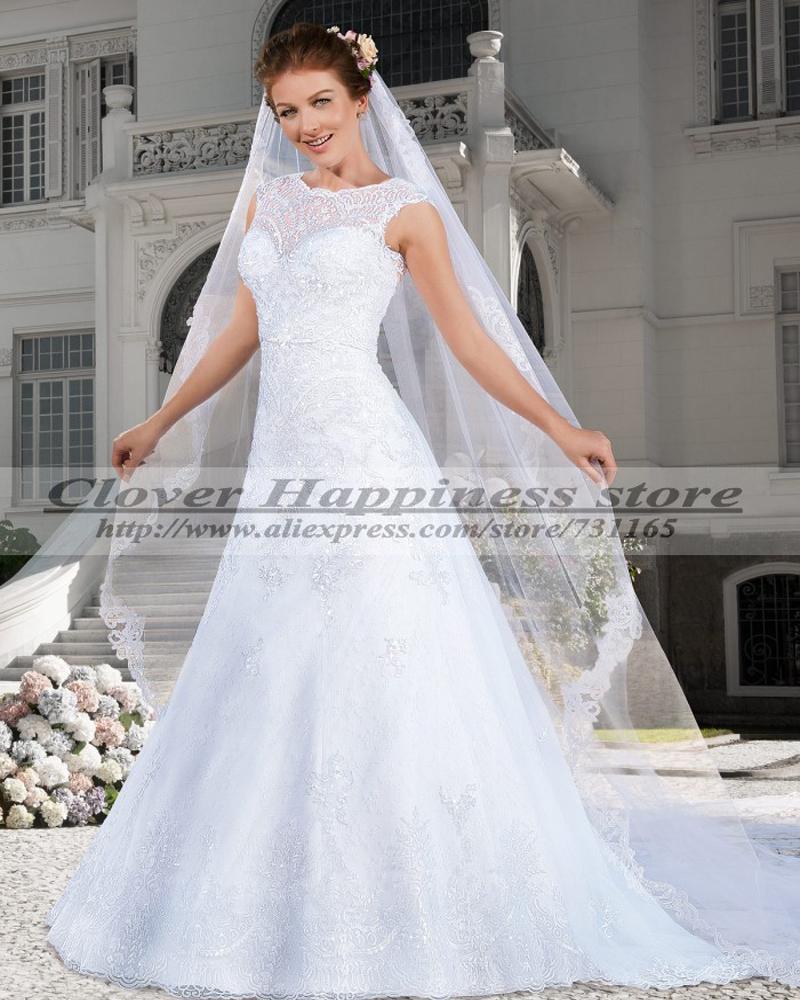 Vestidos De Novia 2015 Renda Elegant Country Western Wedding Dresses Vintage Lace Wedding Dress