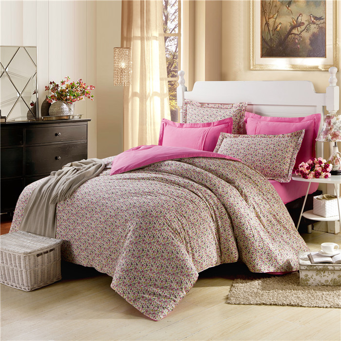 2015 Cheap Bed 3D Bedding Sets King Size Pillow Queen Floral Printed Duvet Cover Sets without