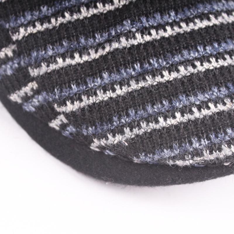 Winter boina gorras planas plus thick velvet beret hat for men newsboy cap  mens cabbie hats Thick warm College Wind hat forward f44ee2c890b