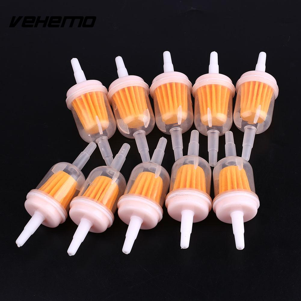 Vehemo 10pcs Fuel Petrol Oil Filter Mower Small Engine With 1 4 X 5 Filters 16 Universal Set