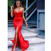 Aliexpress.com : Buy sexy sweetheart side slit red mermaid ...