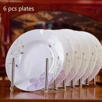 Korean 6pcs 8*inch Bone China Dinnerware Circular ...