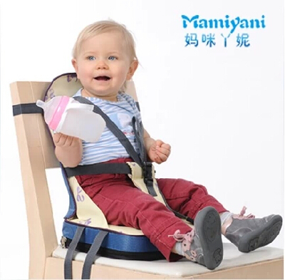 toddler high chair booster steel jhula portable baby safety dinning seat bag / kids car cushion child folding travel ...