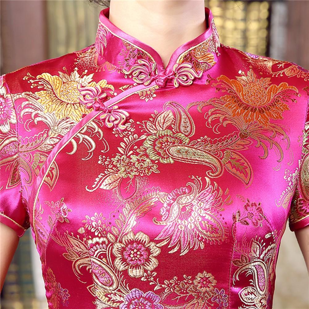 ộ_ộ ༽Shanghai historia Rosa caliente para mujer Long Cheongsam ...
