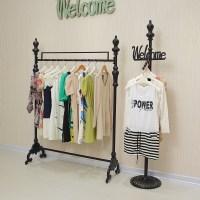 Iron clothing rack clothing store display racks for