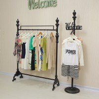 Iron clothing rack clothing store display racks for ...