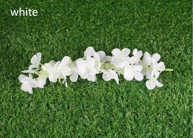 ᐅElegante blanco colgante artificial plantas de orquídeas de seda ...