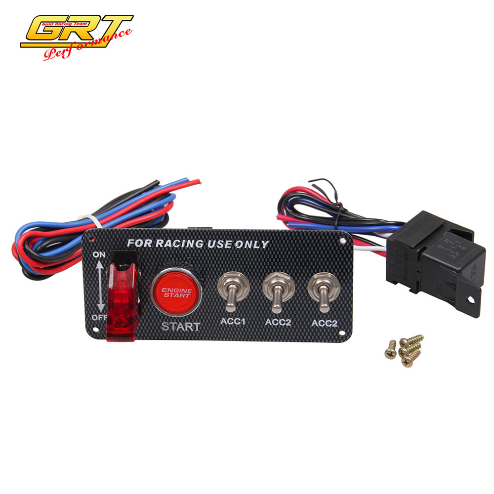 Racing Toggle Switch Panel How Do I Wire A And Push Button The Ignition