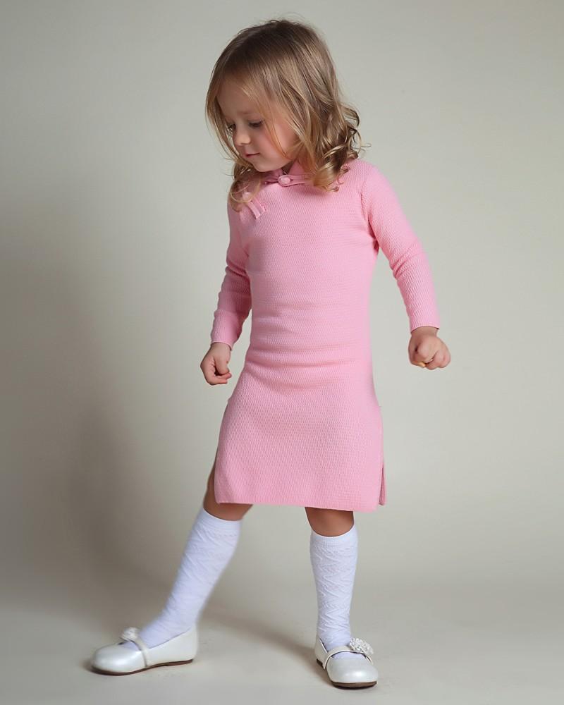 ⃝Niñas invierno suéter Vestidos niño Niñas primavera qipao chino ...