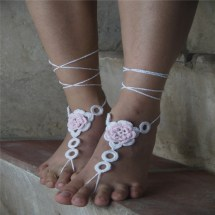 Lace Sexy Barefoot Sandals Crochet Sandles
