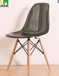 Clear-Transparent-PP-modern-iconic-plastic-chair-dowel ...