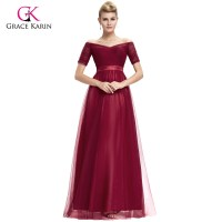 Burgundy Prom Dress 2016 Grace Karin Black Prom Dress ...