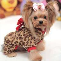 New Fashion Winter Pet Dog Clothes Leopard Fleece Clothing