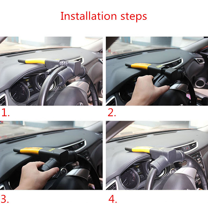 Full Face Steering Wheel Lock Clamp Security for Suzuki Vitara