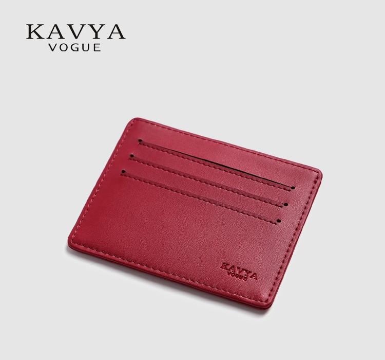 c2aea35006 KAVYA NOVA Magro Mini Genuíno Couro ID Titular Do Cartão de Crédito Saco Da  Bolsa Da carteira Bolsa Caso Do Cartão de Amantes de Presente Pacote Livre  ...