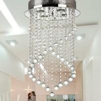 Modern brief stair lamp bar lamp led crystal ceiling light ...