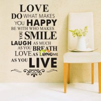 Love Do What Makes You Happy Wall Lettering Stickers ...