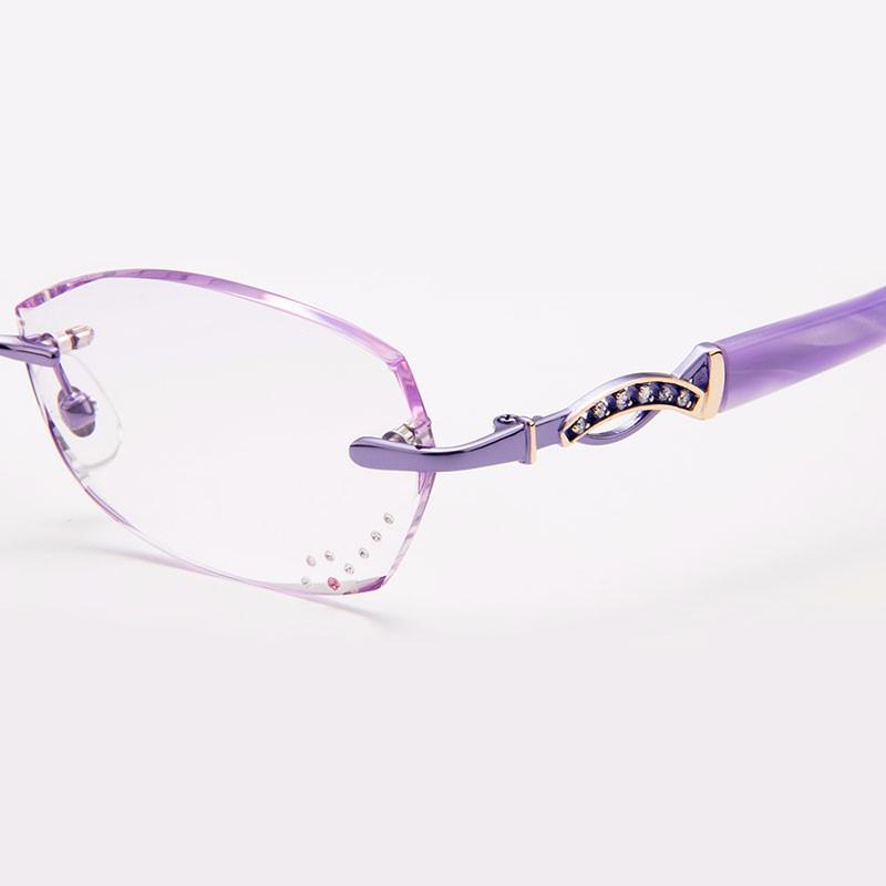 5feb111022ed1b Gmei Optique Q5815 Sans Monture De Diamants De Coupe Lunettes Cadre pour  Femmes Lunettes Lunettes
