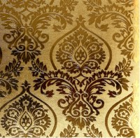 European Luxury Gold Foil Wallpaper 3D Embossed Waterproof ...