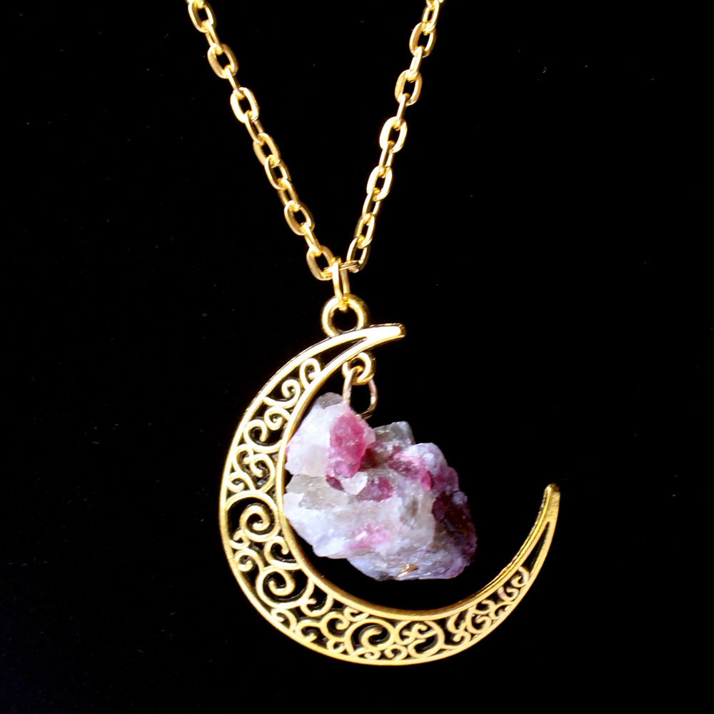 Sun and moon pendant necklace aloadofball Images