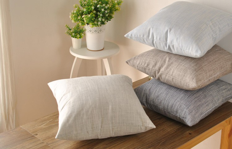 ⑤Creative Pillowcase Sofa Cushion Cotton Linen Solid For Home New Decorate Your Own Pillow