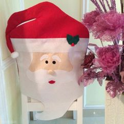 Christmas Chair Covers Ebay Best Inexpensive Office 1pc Lovely Mr Santa Claus Dining Room Cover Seat Back Coat Home Party