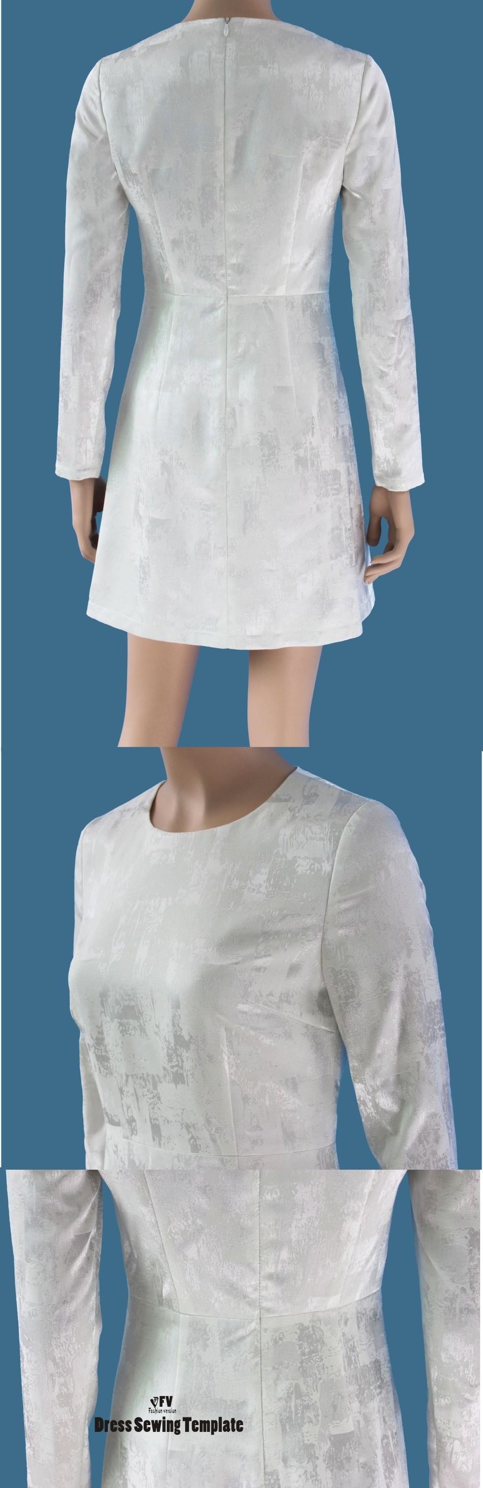 ⑤Vestidos Patrón de Costura de Corte Plantilla De dibujo Ropa DIY ...