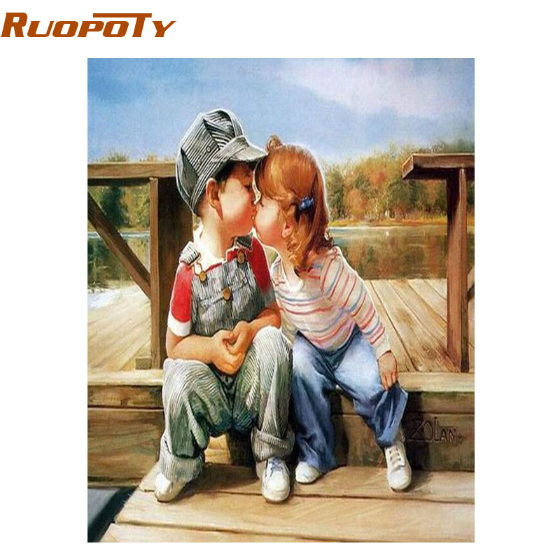 Ruopoty childhood diy painting by numbers wall art canvas painting its need paint by yourself htb1dltfrpxxxxc4apxxq6xxfxxxw solutioingenieria Image collections