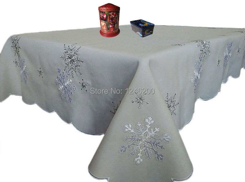 Clear Snowflake Tablecloth  Oriental Trading