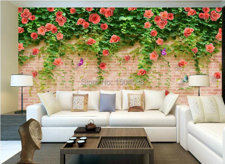 ▻personalizzato murale carta da parati 3d di disegno del fiore
