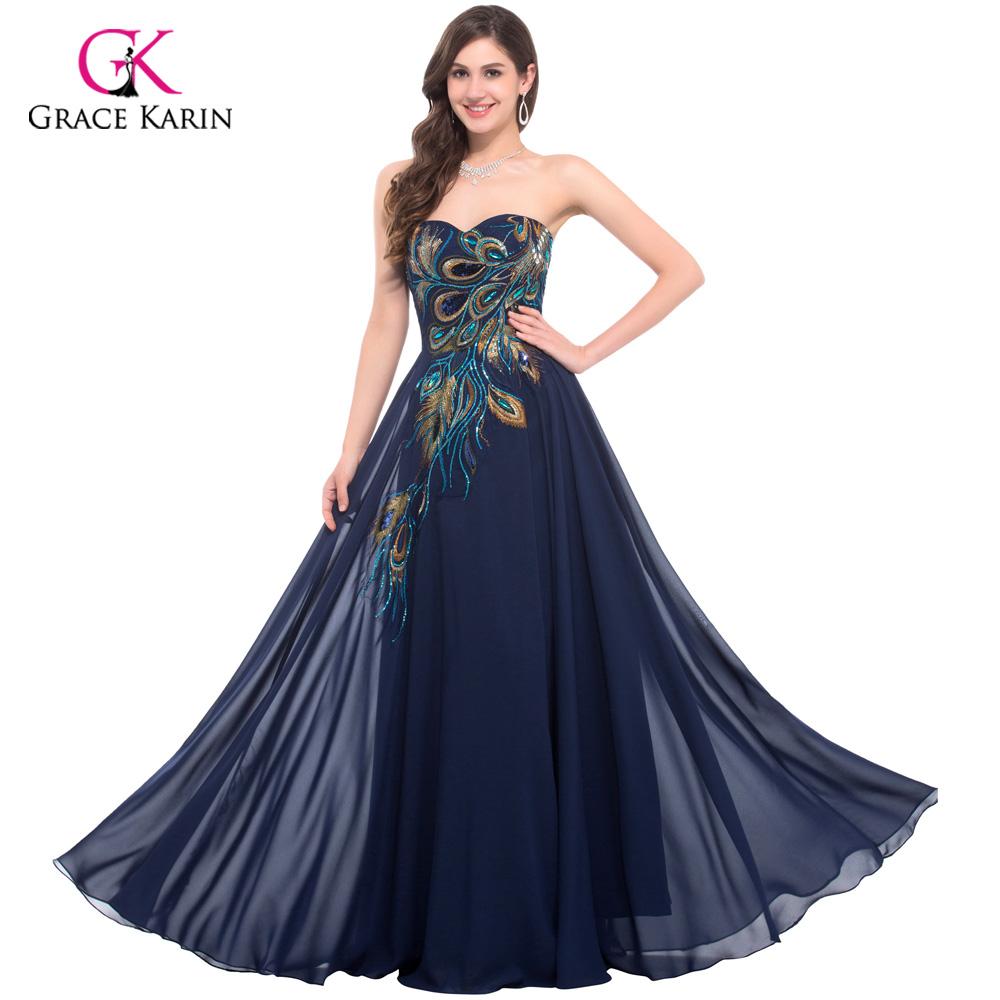 Aliexpress.com : Buy Peacock Dress Grace Karin Purple