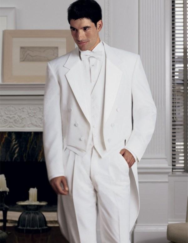 White Tuxedo Suits for Men