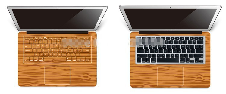 מגן מלא-כיסוי ויניל אמנות העור המדבקה מדבקת כיסוי עבור Apple MacBook Pro Retina 13.3 אינץ ' דגם: A1425/A1502 - 3D הקיר