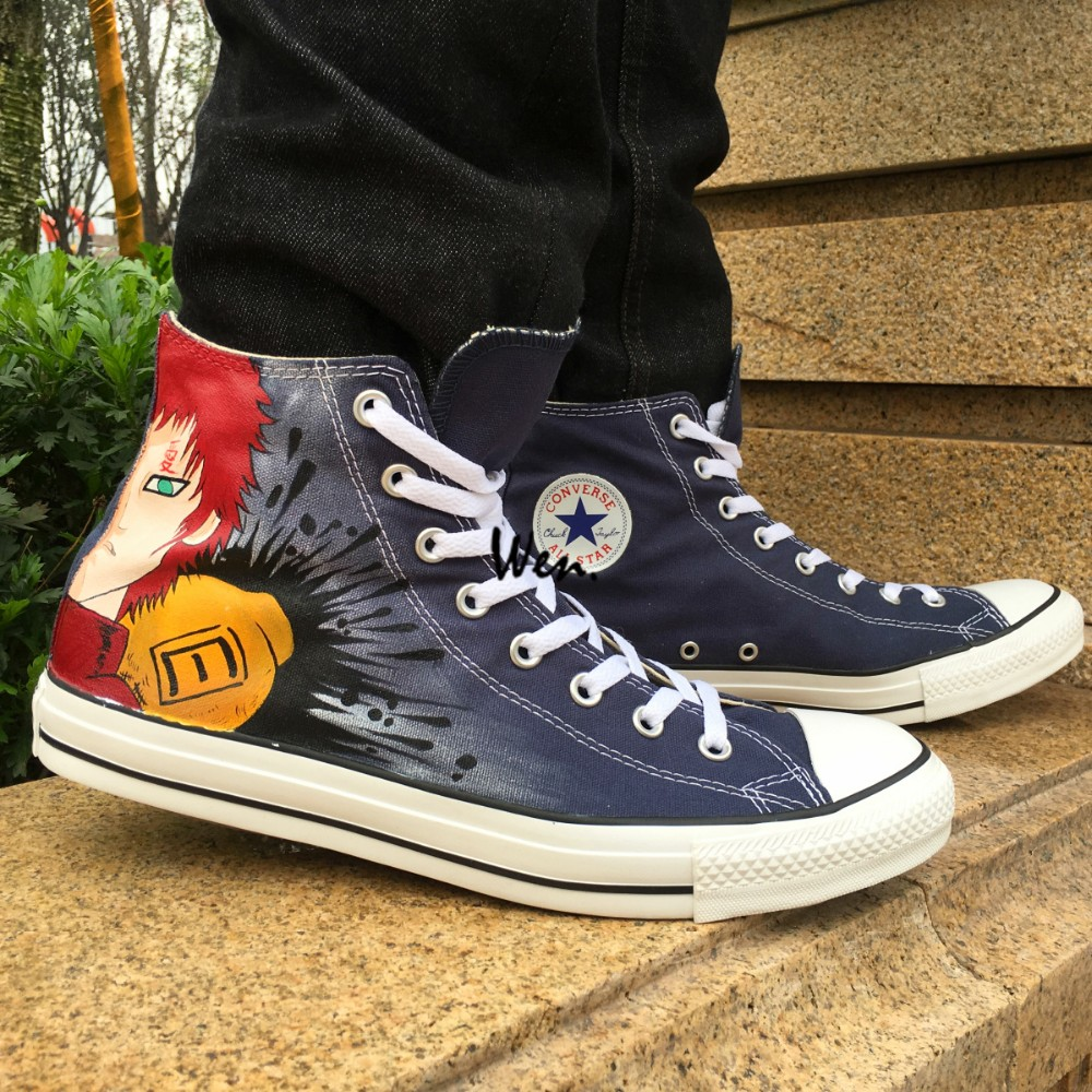 66b203986fc0 ᗑHigh Top Sneakers hombres mujeres Converse All Star Anime Naruto ...