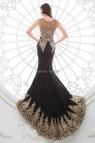 Black Gold Lace Evening Dresses