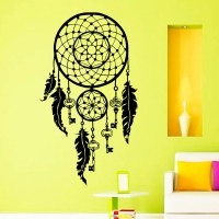 Dreamcatcher Wall Stickers Feathers Symbol Vinyl Wall ...